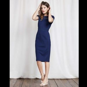 Boden Hera ponte royal blue dress